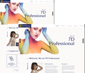 Professional web design layout